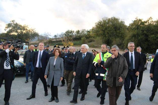Il Presidente Sergio Mattarella insieme a Vasco Errani a Camerino (foto Conforti)