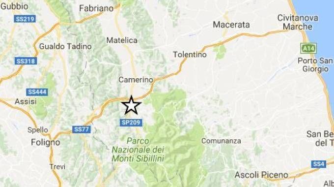 L'epicentro del terremoto nella notte del 3 novembre con magnitudo 4.8 (Ingv)