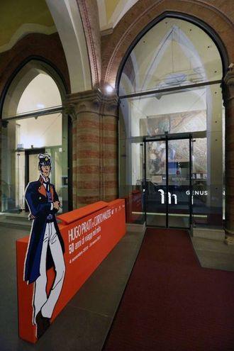 L'ingresso della mostra su Hugo Pratt e Corto Maltese a Palazzo Pepoli
