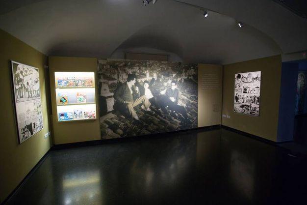 Palazzo Pepoli, una sala della mostra dedicata a Corto Maltese (foto Schicchi)