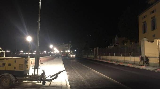 La foto del lungarno Torrigiani su Twitter di Publiacqua