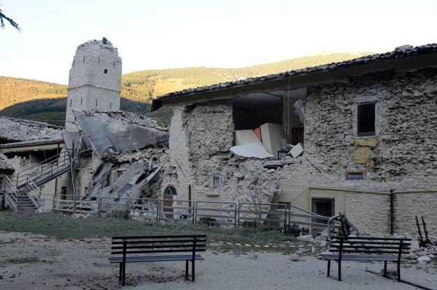 Casa di riposo a Castelsantagelo, dopo la scossa di domenica 30 ottobre (foto Calavita)