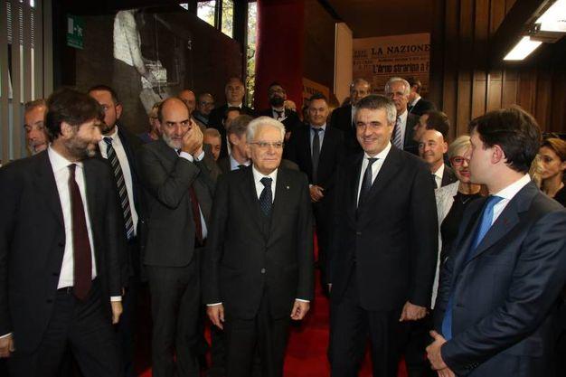 Firenze il presidente mattarella visita la mostra sull for Nazione di firenze