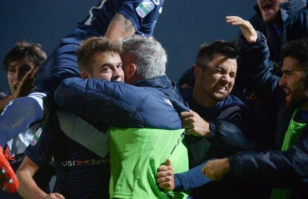 La vittoria del Brescia (foto LaPresse)