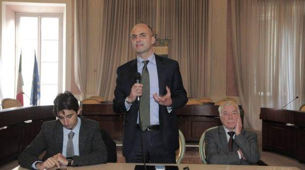 Da sinistra Donzelli, Mugnai e Pellati (foto Alcide)