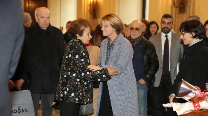 Il ministro Beatrice Lorenzin incontra Sultana Razon Veronesi