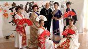 Lo spettacolo al Saffi con la delegazione giapponese di ballerini, cuochi e artisti da Kawagoe (Foto Umberto Visinitini/NewPressPhoto)