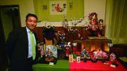 Lo scambio culturale è proseguito nel ristorante Hibiki con Eiji Suga, maestro di bambole giapponesi