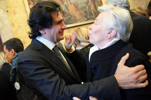 A sinistra uno dei sette figli di Umberto Veronesi, Alberto Veronesi (La Presse)