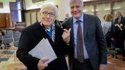 Marino Golinelli con il ministro Galletti (Schicchi)