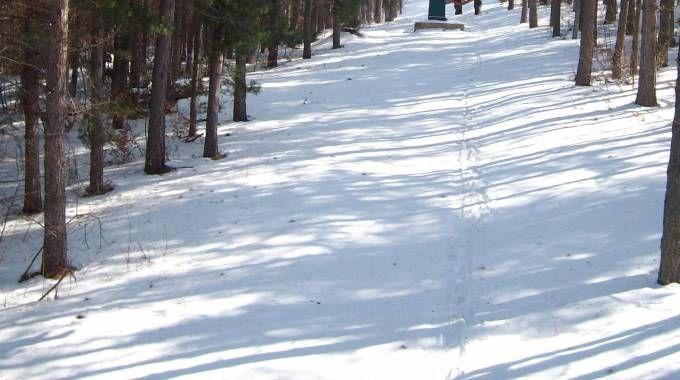 Neve in montagna nel Maceratese (foto d'archivio Calavita)