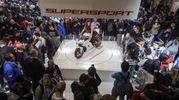 Ducati SuperSport S nel padiglione della Fiera internazionale di Milano-Rho, per Eicma