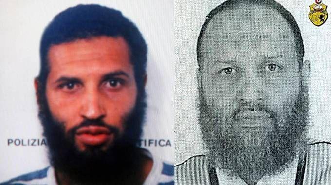 Moez Fezzani nel 2007 (sin) e in una foto diffusa dal governo tunisino nel 2016