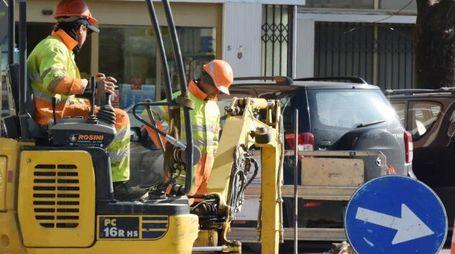 Lavori in strada (foto di repertorio)