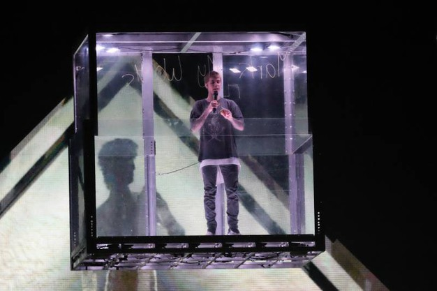 Justin Bieber all'Unipol Arena  per il primo dei due concerti italiani del tour mondiale (Foto Schicchi)