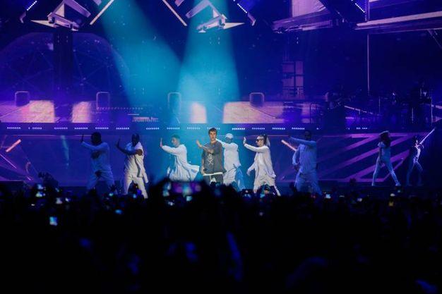 Mark My Words è  la prima canzone prevista nella scaletta del concerto di Justin Bieber a Bologna (Foto Schicchi)
