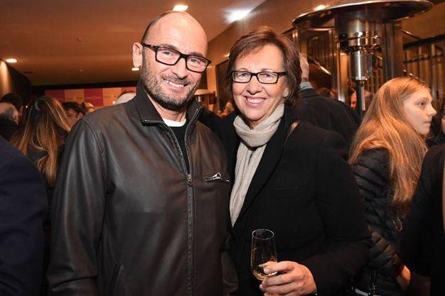 Patrizia Bauer col marito (Foto Schicchi)