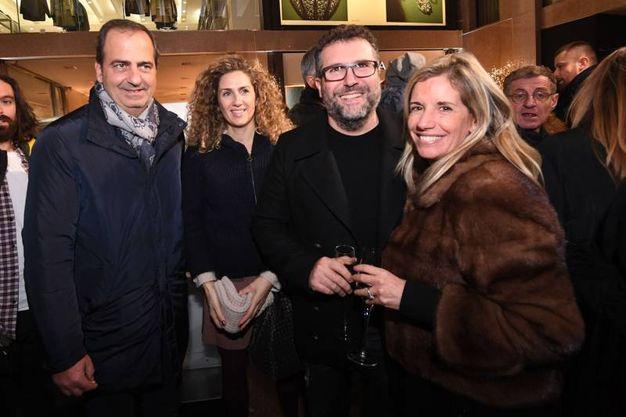 Da sinistra due ospiti, Jacopo Tonelli e Rossella Barbaro (Foto Schicchi)