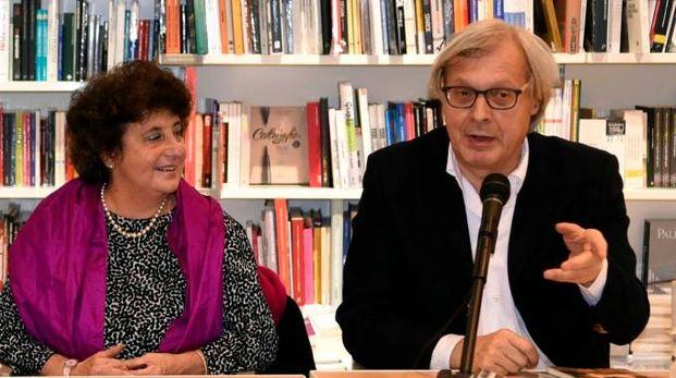Paola Bassani e Vittorio Sgarbi (foto BusinessPress)