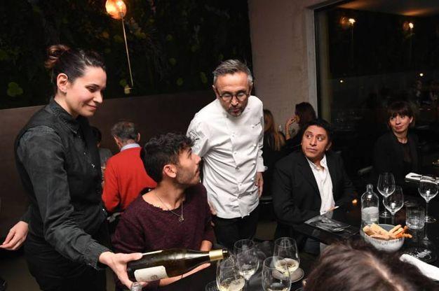 Bruno Barbieri racconta i piatti e risponde alle domande degli ospiti
