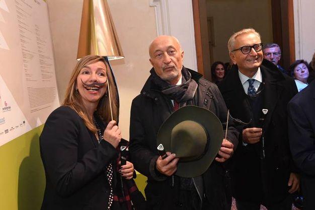 Il vicesindaco Marilena Pillati, Fabio Roversi Monaco e Bruno Borsari (foto Schicchi)