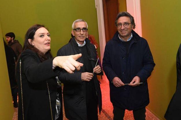 Stefania Dal Rio, Enrico Postacchini e Valentino Di Pisa (Foto Schicchi)