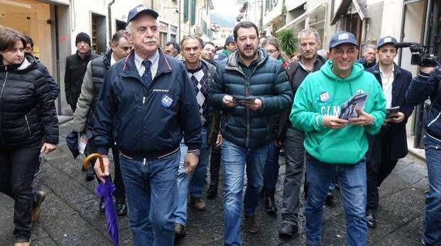 Salvini a Viareggio (foto Umicini)