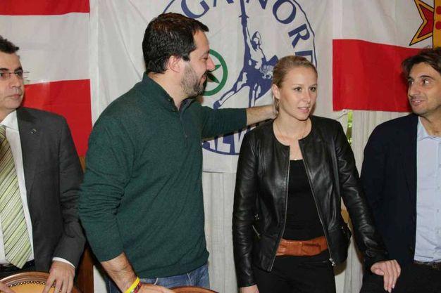 Matteo Salvini in Versilia con Marion Le Pen (foto Umicini)