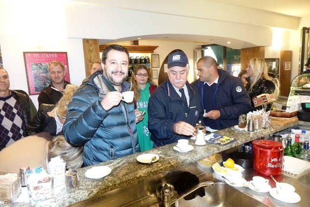 Matteo Salvini in Versilia (foto Umicini)