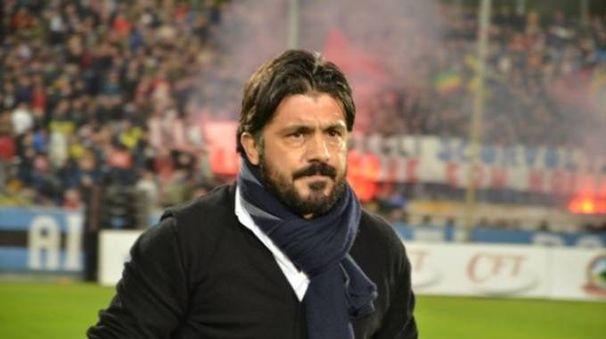 L'allenatore del Pisa Rino Gattuso