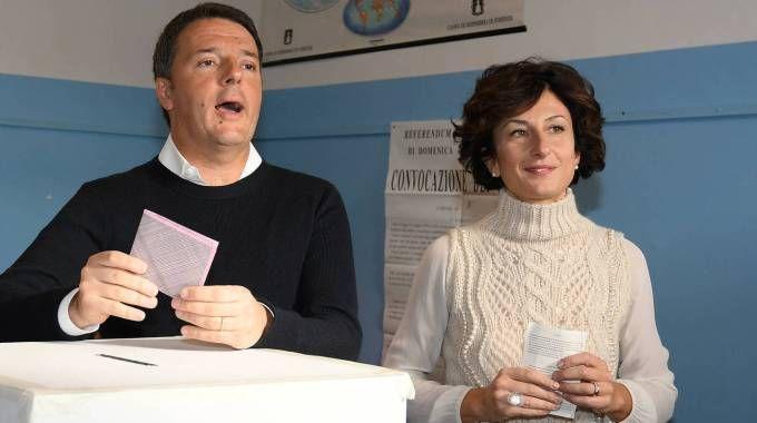Matteo e Agnese Renzi (Olycom)