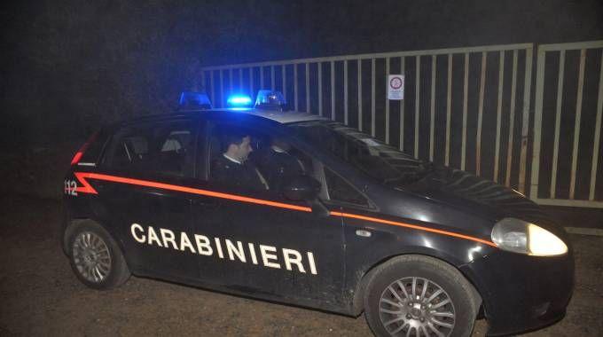 I carabinieri alla cava di via Adua a Cernusco