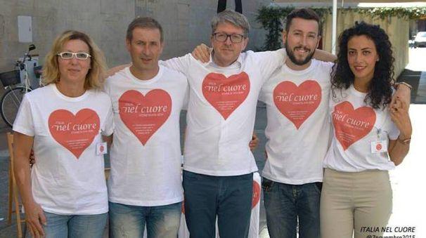 Secondo da sin. Paolo Piattelli e accanto con gli occhiali Mauro Tiboni