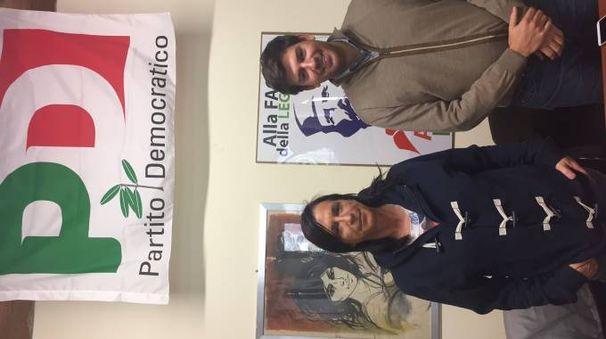 Conti, segretaria Pd Cascina e Ragaglia, capogruppo consiliare Pd.