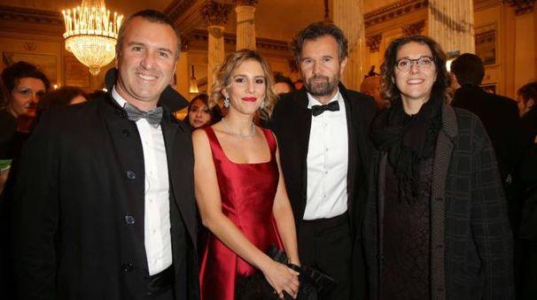 Carlo Cracco e la moglie, Francesca Moretti e il marito
