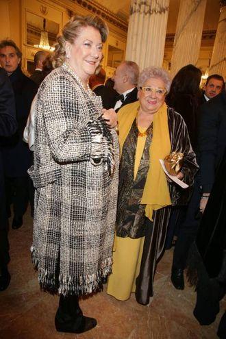 Diana Bracco insieme a Livia Pomodoro (Olycom)