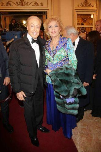 Renato Balestra e Marinella di Capua (Olycom)