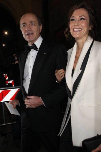 Corrado Passera e la moglie (Olycom)