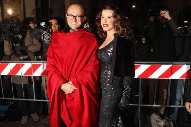 Signorini e Gabriella Dompé (Olycom)