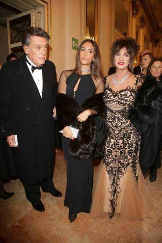 Marcella Bella insieme alla figlia e al marito (Olycom)