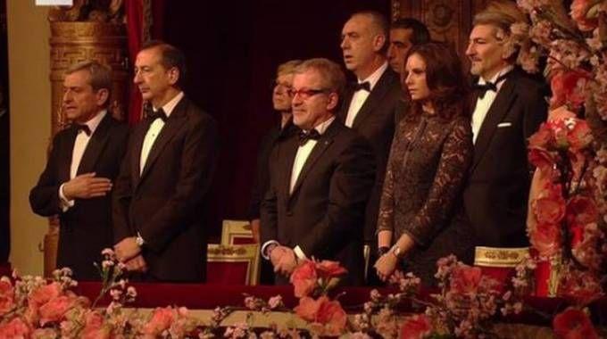 Il palco reale alla Prima della Scala