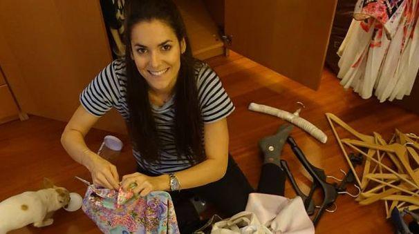 Giulia Torelli, 28 anni, alle prese con una casa dove ristabilire al più presto l'ordine  (Newpress)