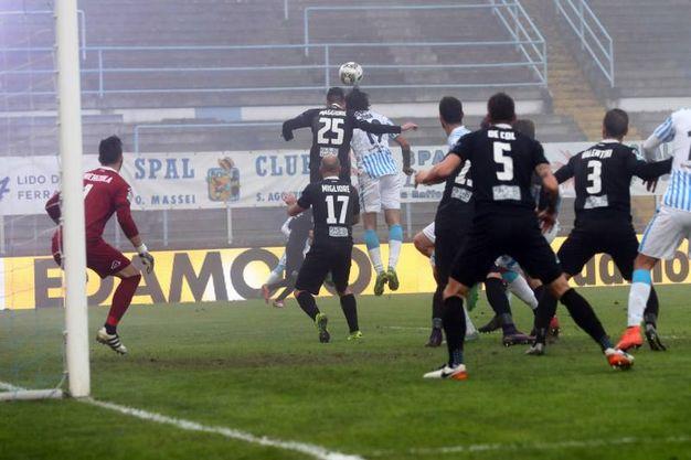 Spal-Spezia, il gol di Luca Mora (Foto LaPresse)