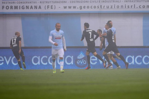 Spal-Spezia, un momento della partita (foto LaPresse)