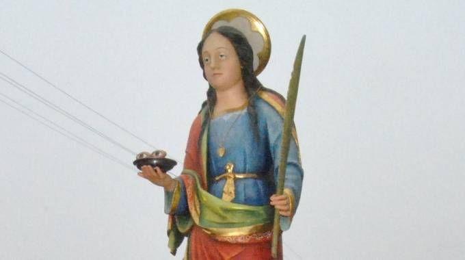 Santa Lucia, una statua (Grossi)