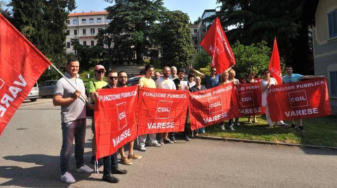 Una manifestazione dei lavoratori della Quiete