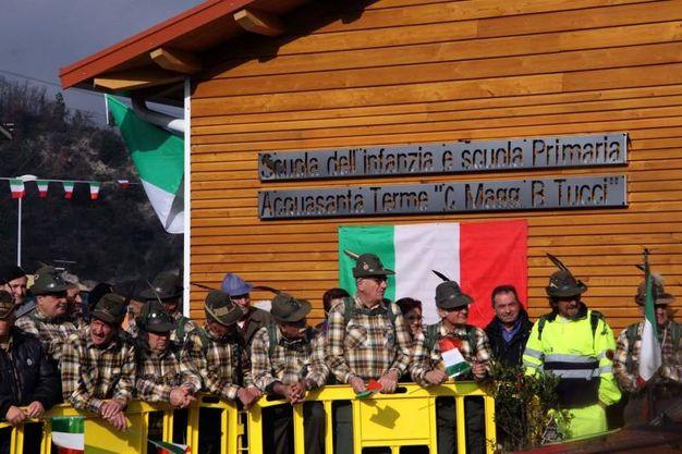 L'accoglienza ad Acquasanta Terme (foto LaBolognese)
