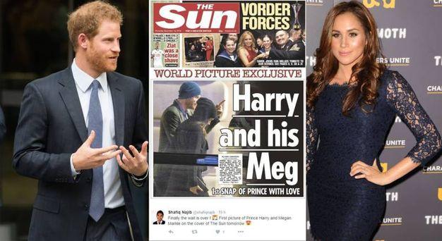 Harry e Meghan, la prima foto su The Sun