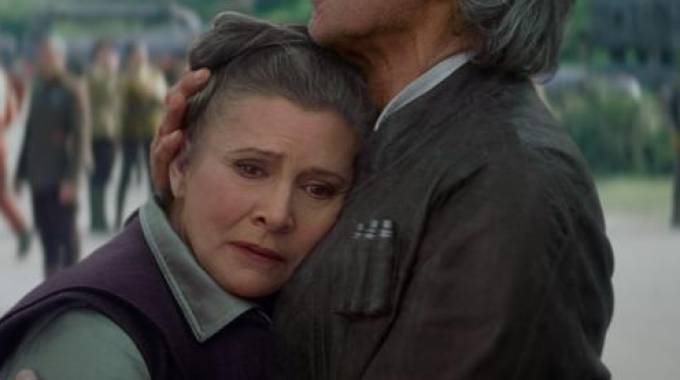 Carrie Fisher è morta (Olycom)