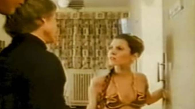 Carrie Fisher nel 'The Return of the Ewok' (Youtube)